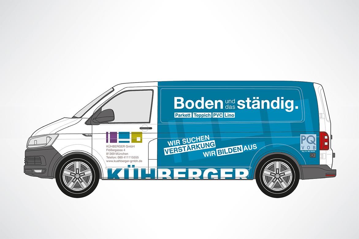 Fahrzeugwerbung für Kühberger GmbH