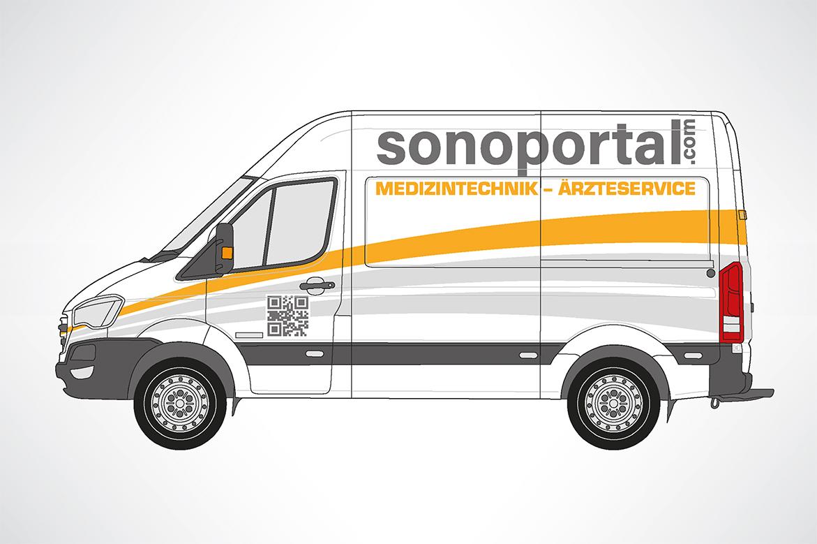 Fahrzeugwerbung für sonoportal GmbH