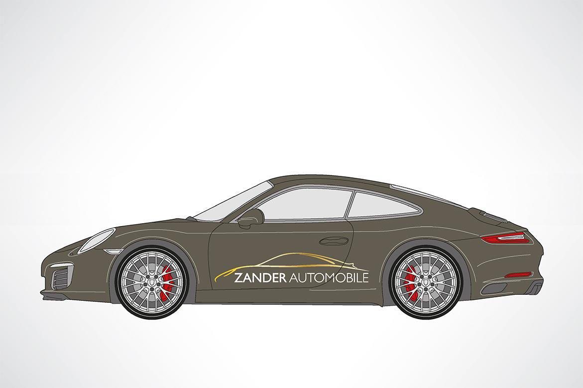 Fahrzeugwerbung für Zander Automobile