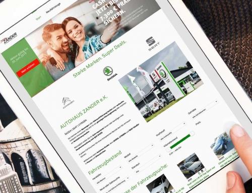 Autohaus Zander – Webdesign