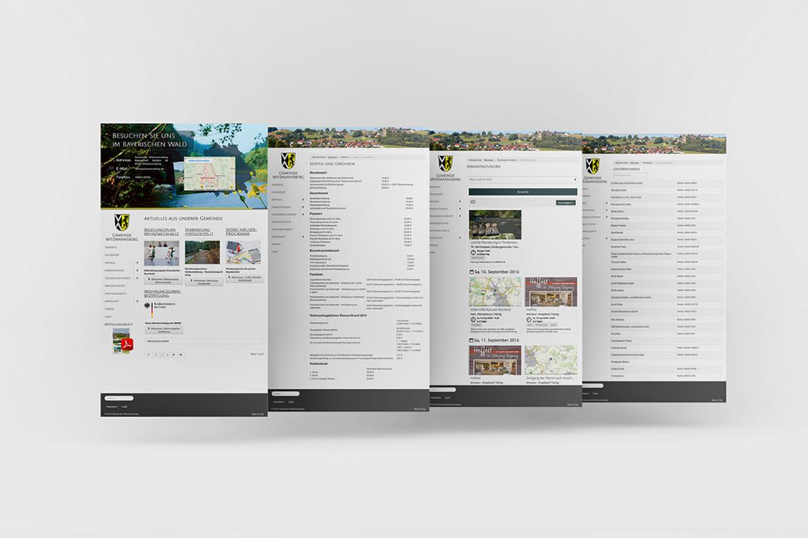 Webdesign, Gemeinde Witzmannsberg