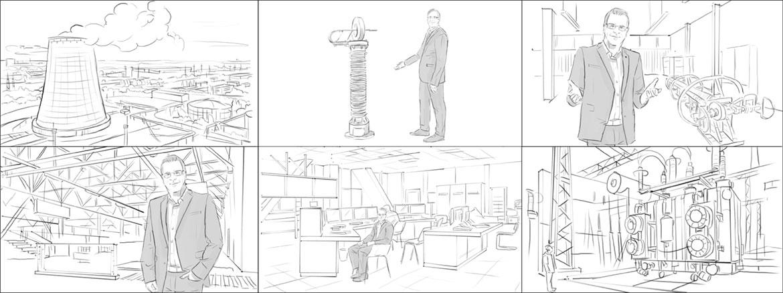 Storyboard für einen Imagefilm